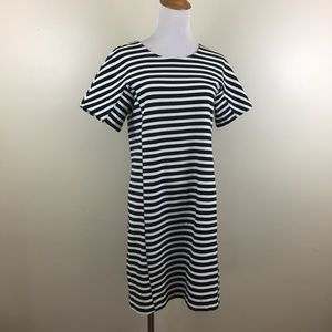J CREW Dolman Sleeve Striped Zipper Back Dress
